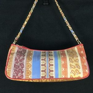 Talbots Multi Color Chain Handbag Purse